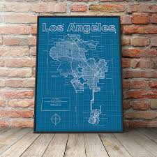 Street Map Of Los Angeles by Los Angeles Map Original Artwork Los Angeles Map Art