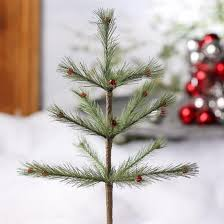 small decorated faux feather pine tree trees floral supplies