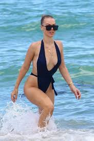 Lori Loughlin Thong - bianca elouise at the beach wearing a thong one piece in miami