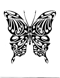 butterfly tattoos black and white tribal butterfly