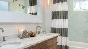 Navy And White Striped Shower Curtain West Elm Bathroom Julip Made Bathroom Styling Tips Kids Bathroom