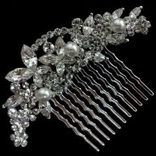 bridal hair combs vines bridal hair comb swarovski wedding headpiece cleo