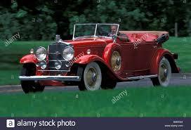 car cadillac v16 vintage car red model year 1930 1931 stock