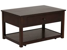 Vancouver Oak Coffee Table - lift top contemporary cocktail table in merlot mathis brothers