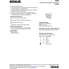 Kohler Toilet Seat Colors Kohler K 6299 7 Veil Black Black Wall Mount Toilets Efaucets Com