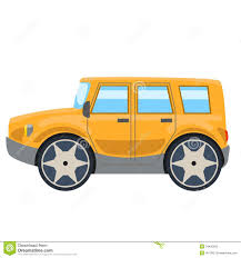 yellow jeep clipart illustration of yellow off road car side stock illustration