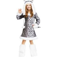 halloween childrens costumes amazon com snow leopard kids costume large 12 14 toys u0026 games