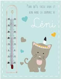 thermomètre mural chambre bébé cadre thermomètre avec un amour de bébé