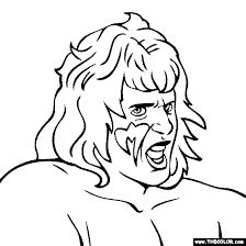 ultimate warrior coloring