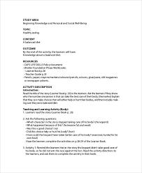 printable lesson plan 7 free word pdf documents download