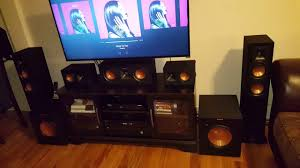 setting up home theater klipsch 7 2 suroundsound speakers set up youtube