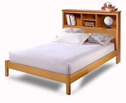twin beds with bookcase headboard 5443