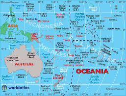 polynesia map of world large map of australia and oceania easy to read and printable