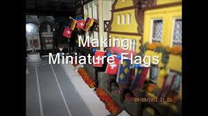 How To Draw A Waving Flag Making Miniature Flags For Model Diorama Decoration Or Train