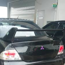 mitsubishi evo spoiler mitsubishi lancer glx cs3 evo spoiler car accessories on carousell