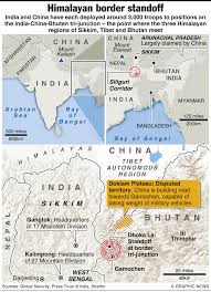 Map Of India And China what u0027s the india china doklam standoff about