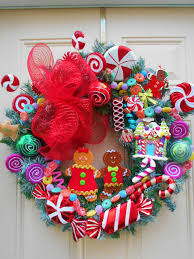 Designer Decorated Christmas Wreaths by Gingerbread Wreathgingerbread By Ornamentaltreasures On Etsy