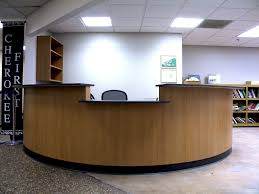 Female Executive Office Furniture Reception Desks For Offices Custom Reception Counters