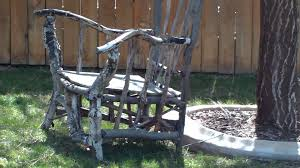 How To Make An Armchair A Big Chair That Is Made With Tree Branches Youtube