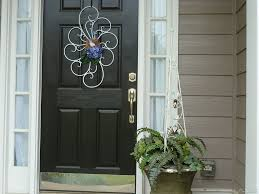 Painting Exterior Doors Ideas Exterior Faboulus Black Wooden Front Door Decoration With Ornate