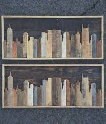 crafted reclaimed nashville skyline by legacybuilding on etsy
