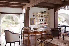 Western Dining Room Table Reese Witherspoon Rustic Decor Spanish Colonial Interior Design