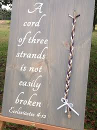 3 cords wedding ceremony cord of 3 strands wedding wedding tips and inspiration