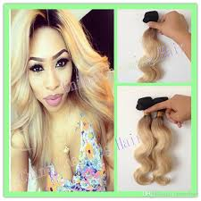black at root of hair brazilian dark root blonde human hair body wave bundles two tone