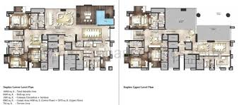 Penthouse Floor Plan by Ats Knightbridge 4bhk U0026 Penthouses At Sector 124 Noida
