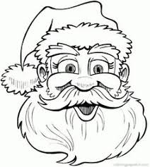 santa sleigh coloring color printable coloring pages
