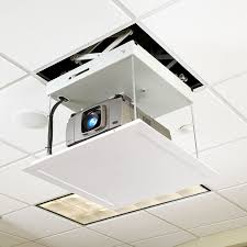 Retractable Projector Ceiling Mount by Micro Projector Lift Draper Inc