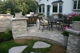 Backyard Flagstone Patio Ideas Stunning Backyard Stone Patio Ideas Backyard Stone Patio Large And