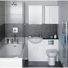 bathroom rustic gray vanities mosaic tile shower awesome master