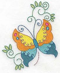 butterfly and swirls small br 3 15w x 3 85h deers