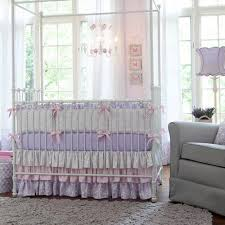Shabby Chic Baby Bedding For Girls by Lilac And Silver Gray Damask Crib Bedding Baby Crib Bedding