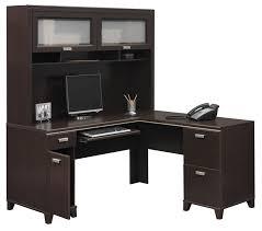 Computer Hutch Desks With Doors Barrel Studio Cosner L Shape Computer Desk With Hutch