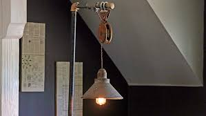 how to make an industrial floor lamp