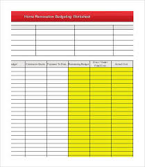renovations budget template 4 renovation budget template free sample example format free