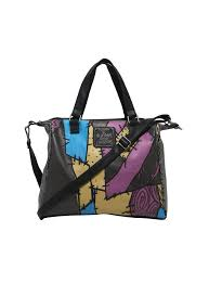 loungefly the nightmare before sally patchwork tote bag