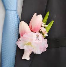 corsage and boutonniere prices new 5pcs lot groom boutonniere real touch pink tulip flower