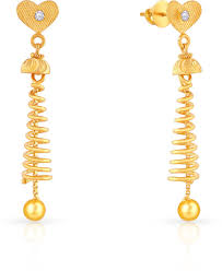 malabar earrings malabar gold and diamonds mhaaaaaavcyx 22 k cubic zirconia gold