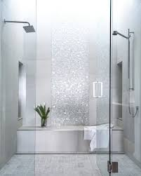 Glass Showers For Small Bathrooms Glass Shower Doors With Sparkling Silver Ceramic Tile Installation