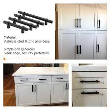 black t bar kitchen cupboard handles 5in black drawer pulls modern cupboard handles kitchen