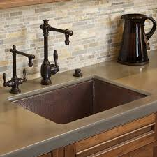 cocina 24 copper kitchen sink trails