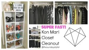superfast closet cleanout quicker than konmari youtube