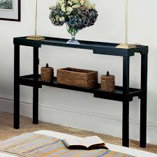 Black Console Table Kyoto Narrow Console Table Wood Oka