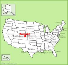 Aurora Map Aurora Colorado Location On The U S Map