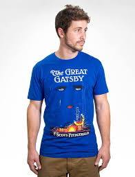 Great Gatsby The Great Gatsby Unisex Blue T Shirt U2013 Out Of Print