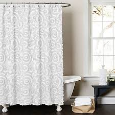 Lush Shower Curtains Lush Décor Keila 72 Inch X 72 Inch Shower Curtain In White Bed