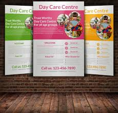 daycare brochure template daycare flyer templates flyer templates creative market